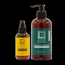 Set hidratant pentru păr cu extract din ulei de ricin - Hidration - Remary - 2 produse